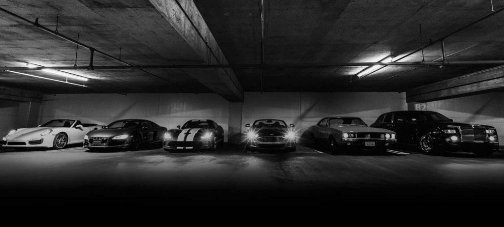 garage voiture de luxe