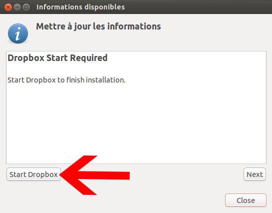 Ouvrir Dropbox