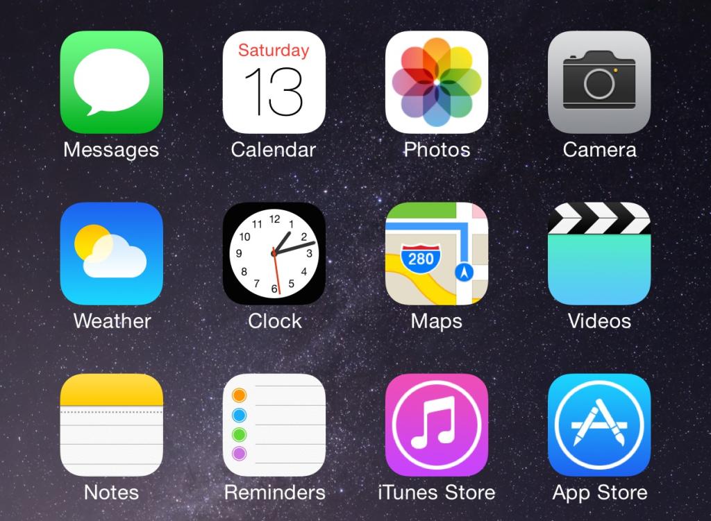 écran d'iPhone