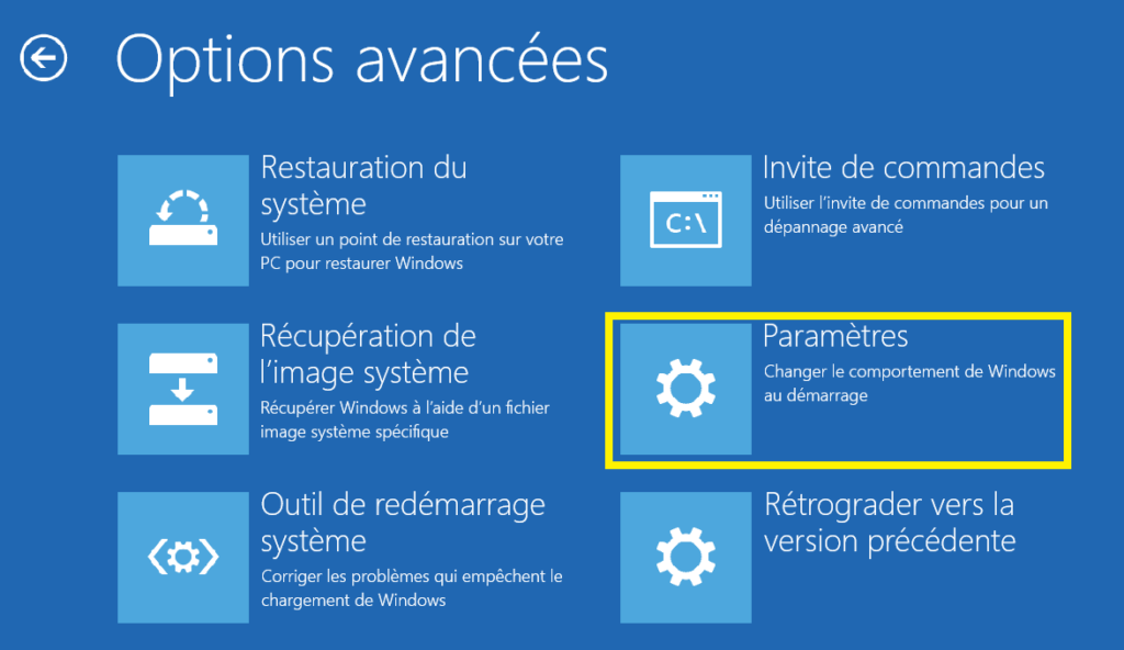 démarrer mode sans échec Windows