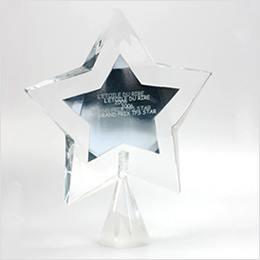 trophée en verre
