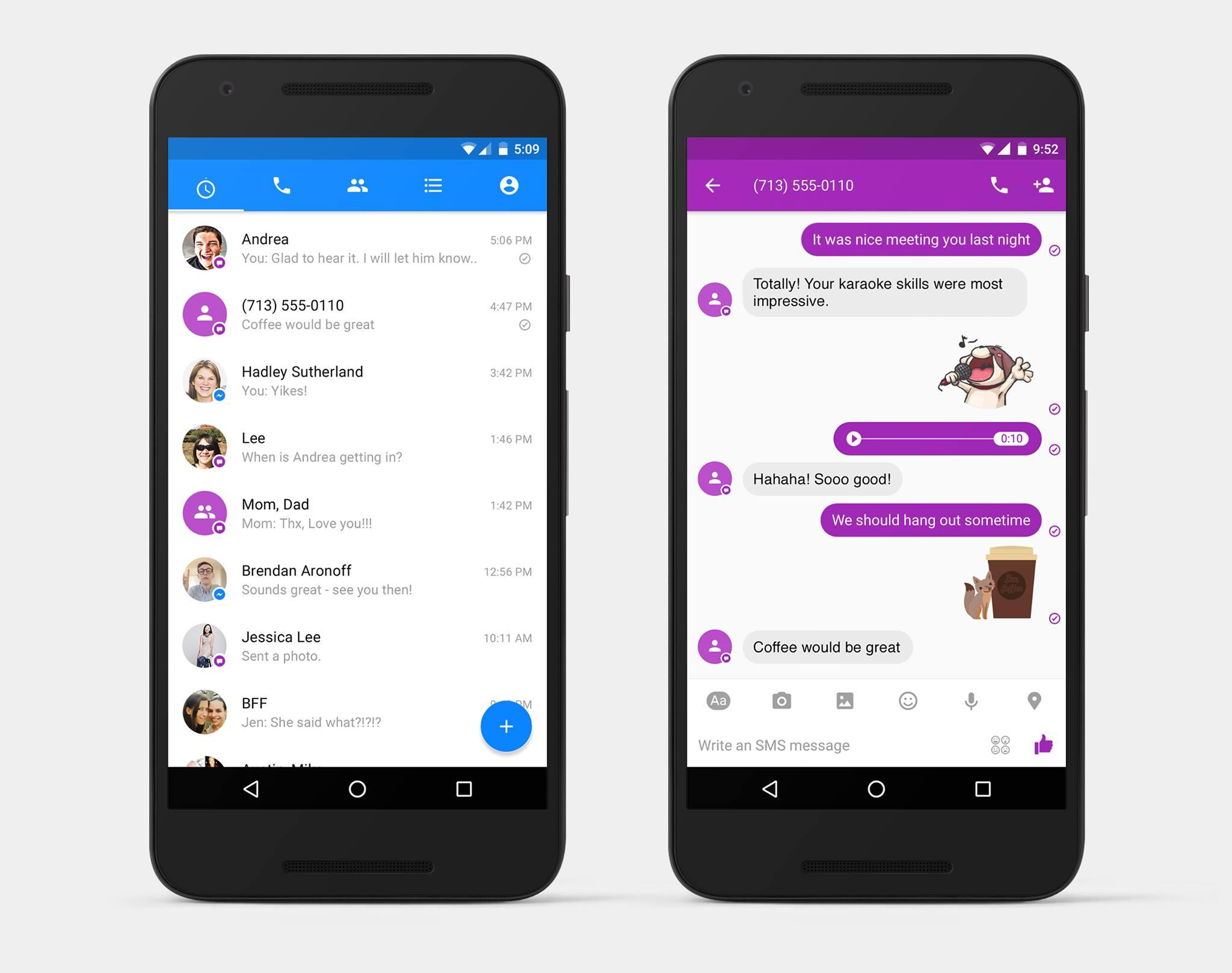 SMS sur Android