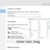 changer langue Windows
