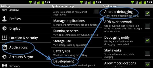 débogage USB sur Android