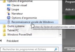 reconnaissance vocale de Windows 7