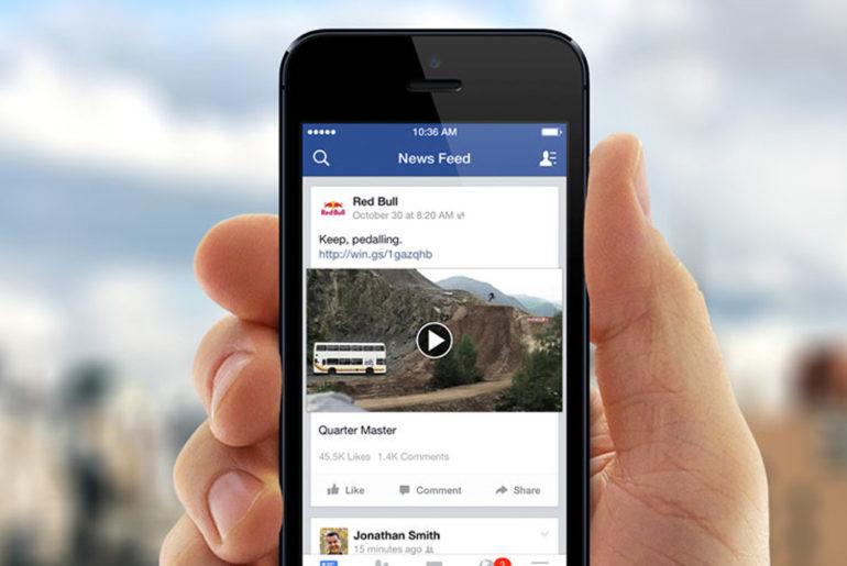 vidéo sur Facebook