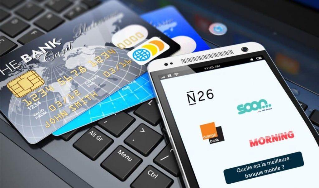 néo banques sur smartphone