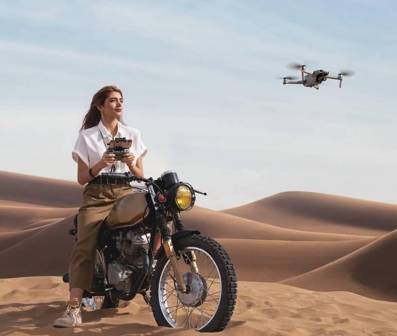 drone dans le désert