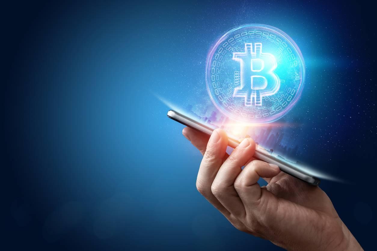 Bitcoin sur smartphone